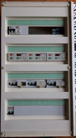 Quadro elétrico completo com disjuntores rearmáveis