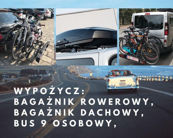 Wynajem bagażników: na HAK (3-4 rowery), dachowe BOX Thule