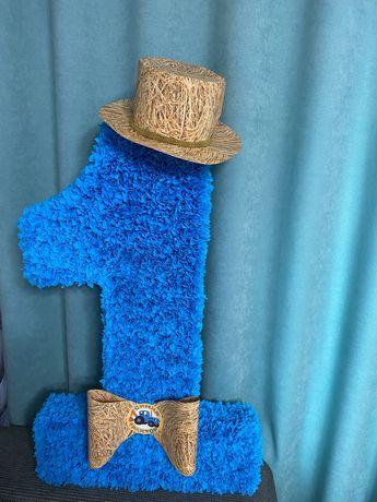 Единичка в стиле «Синий трактор»
