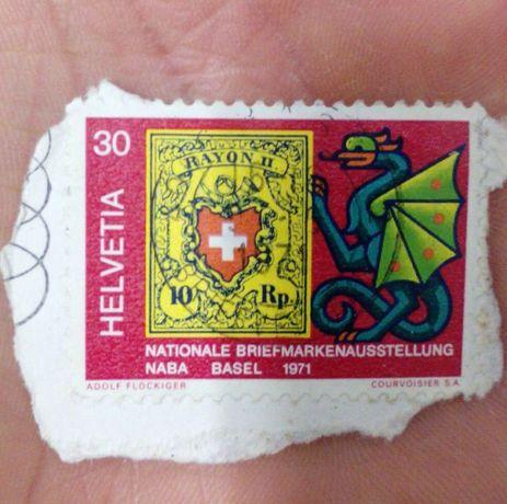 Selo suíço de 1971
