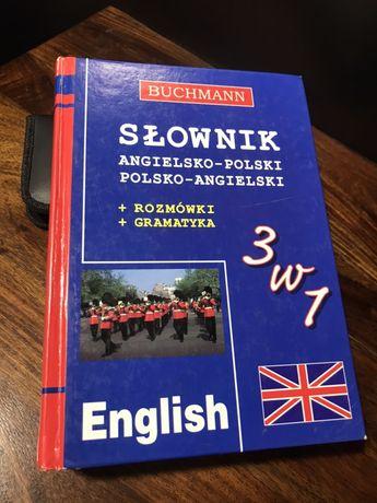 Słownik ang-pol, pol- angielski, Rozmowki, gramatyka, Buchmann 3w1