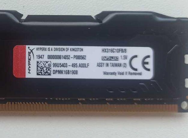 Память Kingston FURY 8 GB DDR3 1600 MHz (HX316C10FB/8)