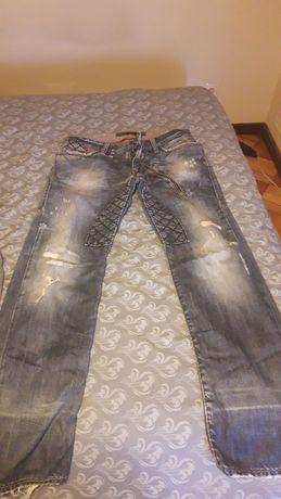 Calças Bray azuis e cinzentas