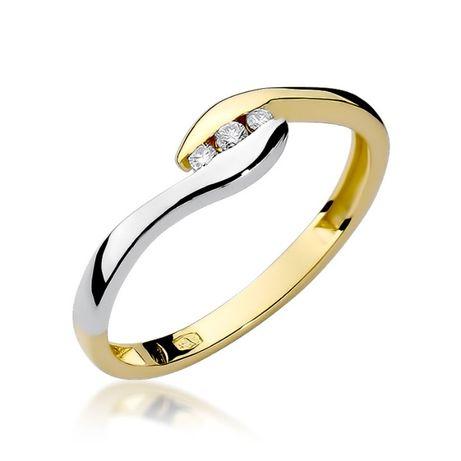 Złoty pierścionek z brylantami Jubiler Goldrun 0,050ct