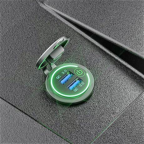 NOVIDADE - Carregador Rápido USB QC 3.0 Amp com interruptor ON/OFF