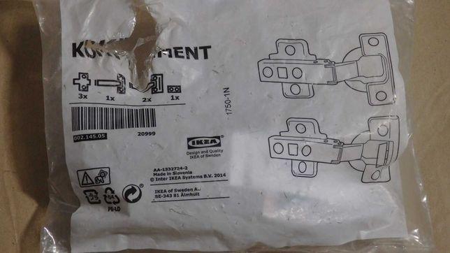 IKEA Komplement 002.145.05 2 z 3 zawiasow do PAX