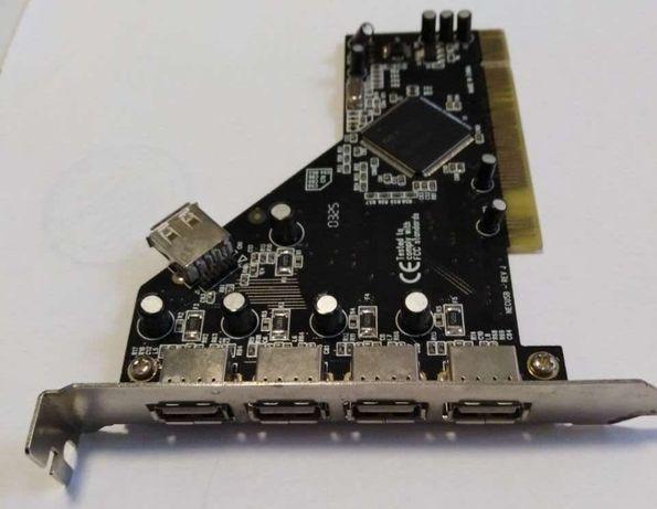 Контролер плата PCI 4+1 USB плата расширения USB