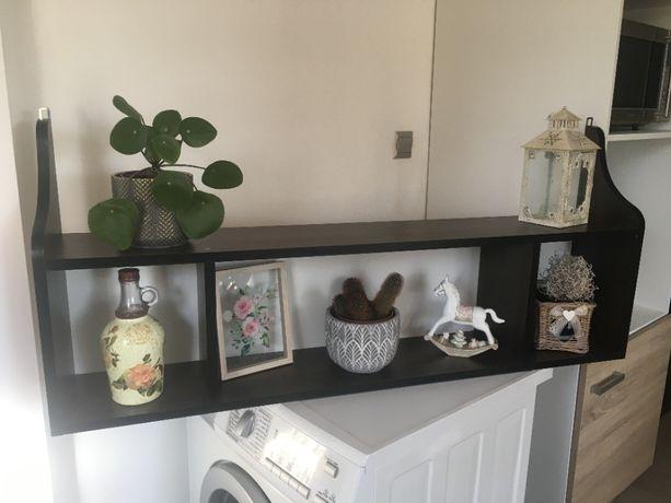 śliczna półka wenge na kwiaty, książki lub dekoracje
