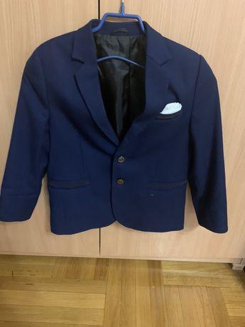 Школьный пиджак темно- синий