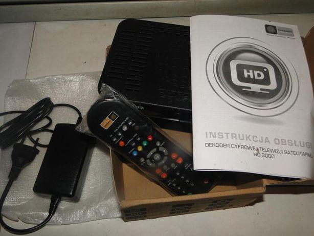 Dekoder Cyfrowej Telewizji Satelitarnej HD 3000 - NOWY !