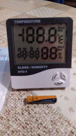 Термогигрометр. часы. будильник. метеостанция