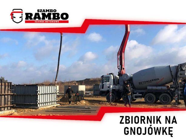 Zbiornik Betonowy 5m3 Na Gnojówkę Wodę Deszczówkę Szambo Betonowe