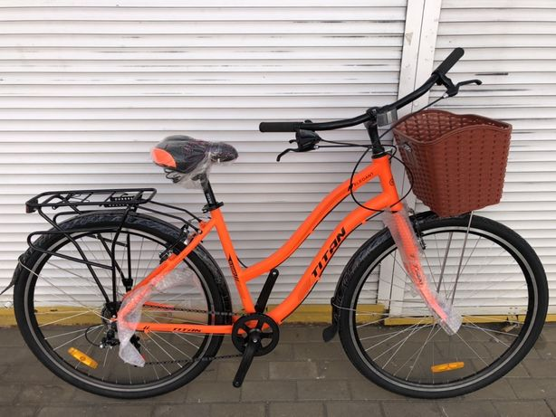 """Новий міський велосипед «Titan Elegant 28"""" рама з алюмінію Shimano"""