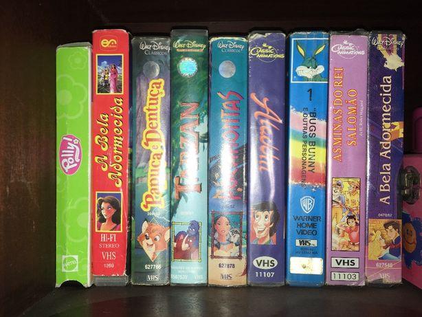 Cassetes filmes da disney