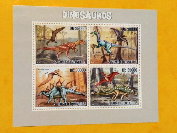 Znaczki blok S.Tome e Principe 2010 dinozaury nr 2