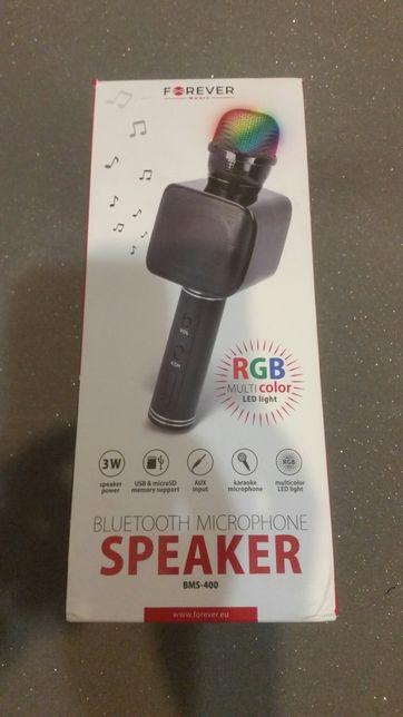 MIKROFON karaoke głośnik bluetooth FOREVER sd usb