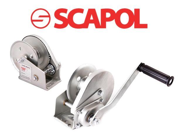 Wciągarka / wyciągarka samohamowna ręczna linowa 800kg, model JC-C