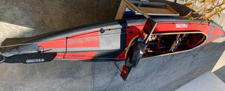 Kayak Nauti Raid duas pessoas dobrável PVC com armação de madeira