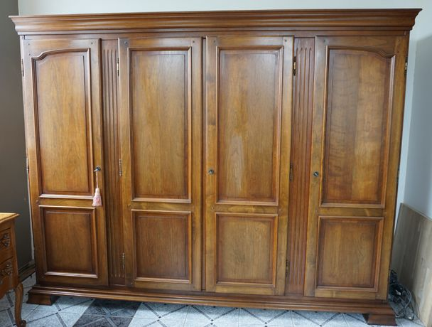 szafa drewniana stara stylizowana prowansalska antyki duża