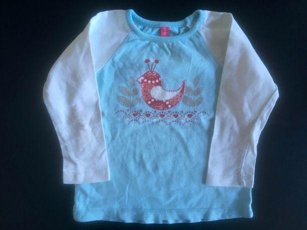 Biało-niebieska bluzka z długim rękawem marki 5.10.15
