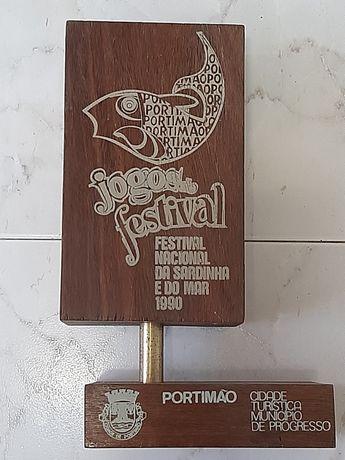 Troféu/peça decoração jogos do festival sardinha Portimão 1990