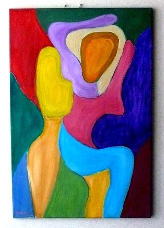 Obraz olejny 90x60 - Czułość