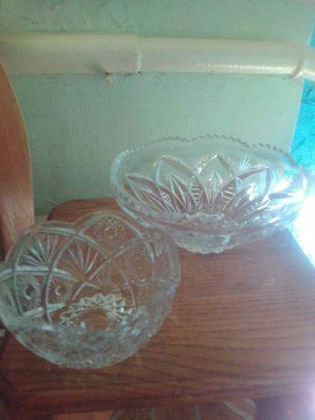Продам хрустпльные вазы