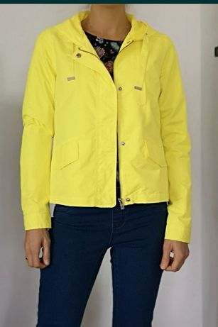 NOWA kurtka only żółta z kapturem neonowa damska dziewczęca