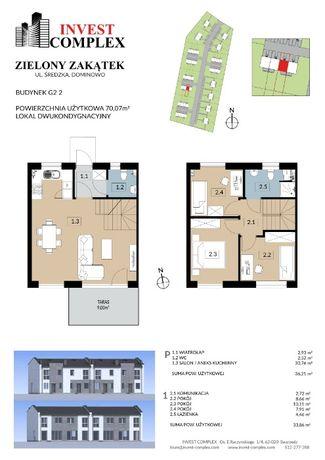 Invest Complex Swarzędz 70m2 dom w cenie mieszkania z ogrodem