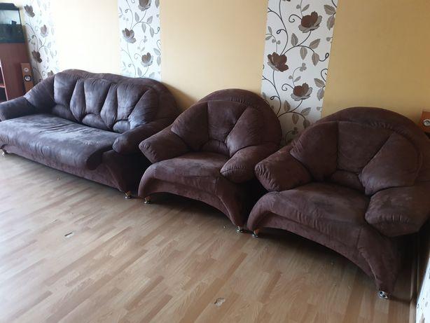 Sofa z fotelami alcantara