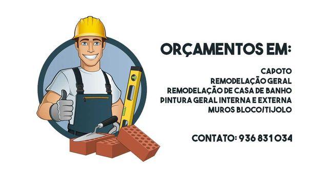 Fazemos Serviços de Trolha/Pedreiro/Remodelações/Capoto/Pintor