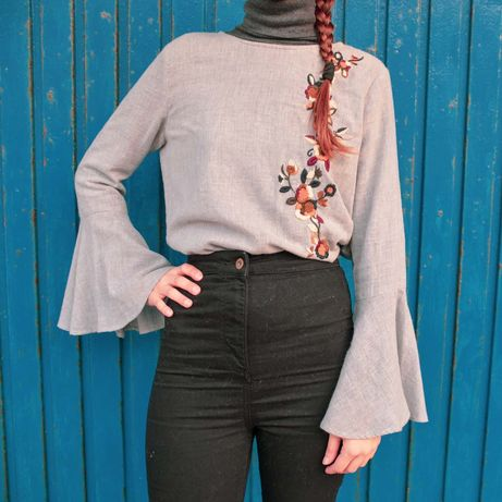 Camisa de linho com bordados