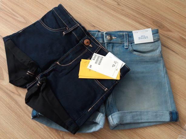 NOWE szorty dżinsowe H&M r.110/116
