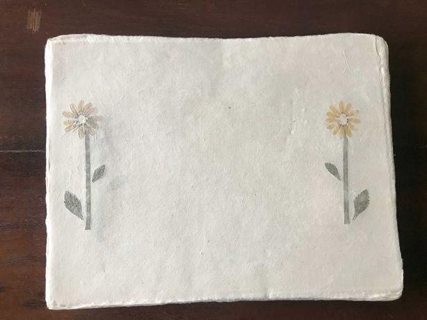 80 folhas de papel artesanal com malmequer para convites manualidades.