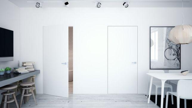 Drzwi UKRYTE - 3 Zawiasy płyta wiórowo otworowana Dostępne od ręki