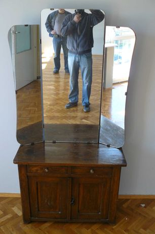 Szafka z lustrem lata 50/60 lite drewno PRL