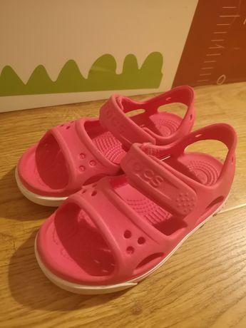 Sandałki crocs c10 różowe