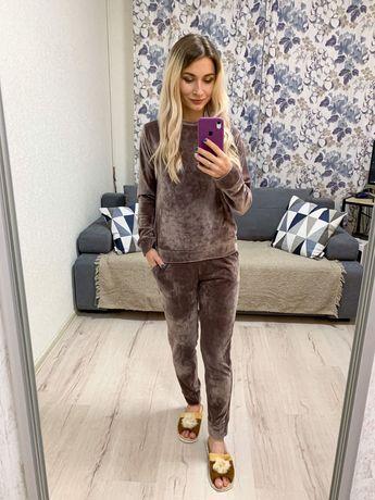 АКЦИЯ Велюровый мягинький костюм домашний пижама женская женский