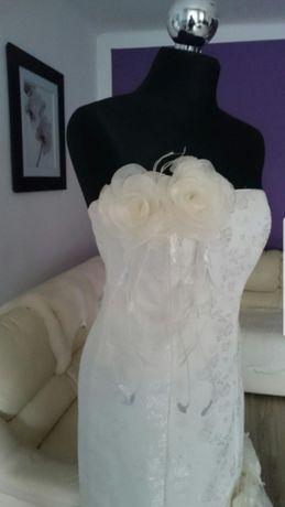 Okazja Piękna Suknia Ślubna Syrenka Rozmiar 36 S