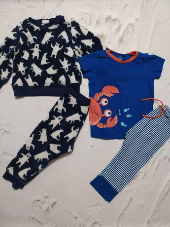 Пижама теплая зимняя, трикотажная лёгкая на мальчика 86 р , 1-2 года