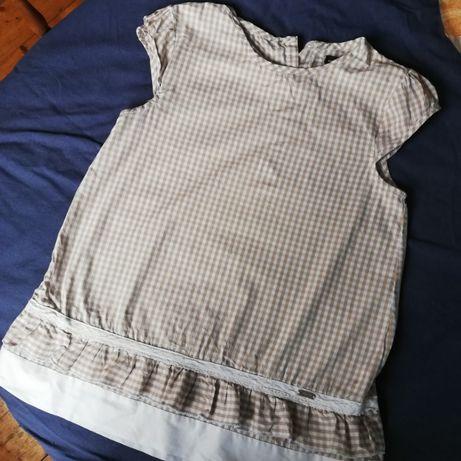 Endo lekka bluzka / tunika w kratkę, rozmiar 152