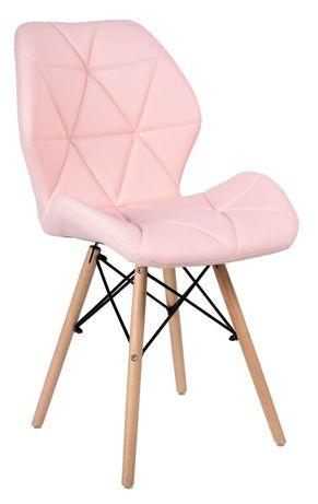 Krzesło tapicerowane Rennes - różowy  Pudorwy róż
