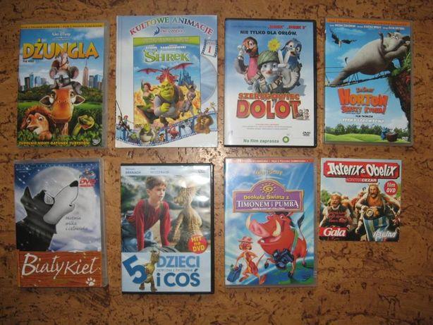 zestaw-film DVD - 8 szt: SHREK, DŻUNGLA, DOLOT, HORTON...