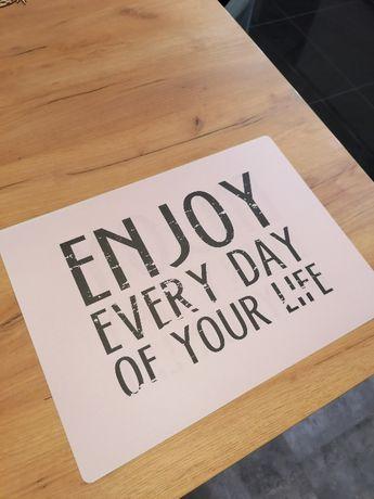 Mata na stół z tworzywa Enjoy Every Day Dwustronna