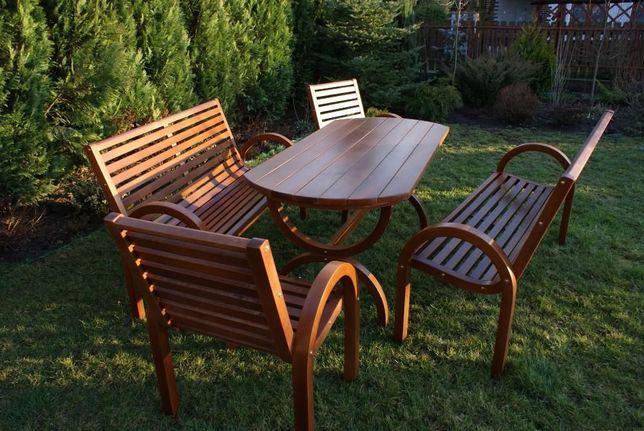meble ogrodowe drewniane , huśtawka, fotel bujany, leżak ogrodowy
