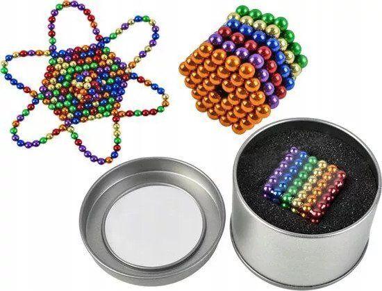 Неокуб Цветной 5 мм 216 шт Радужный, Neocube, головоломка, магниты