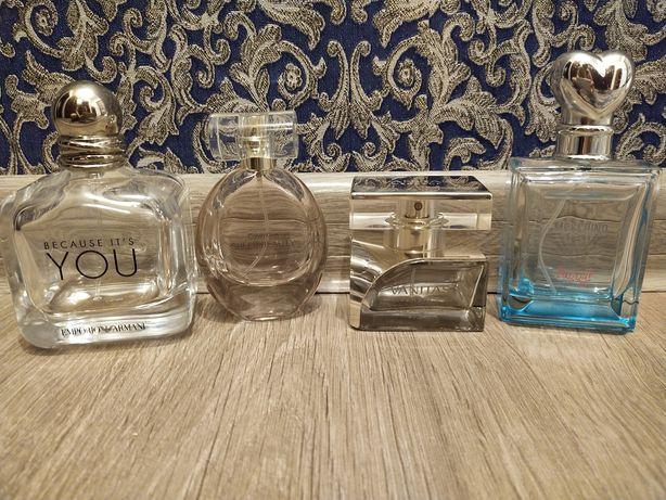 Флаконы с оригинал, парфюм,  Versace, Moschino,Calvin Klein, Armani