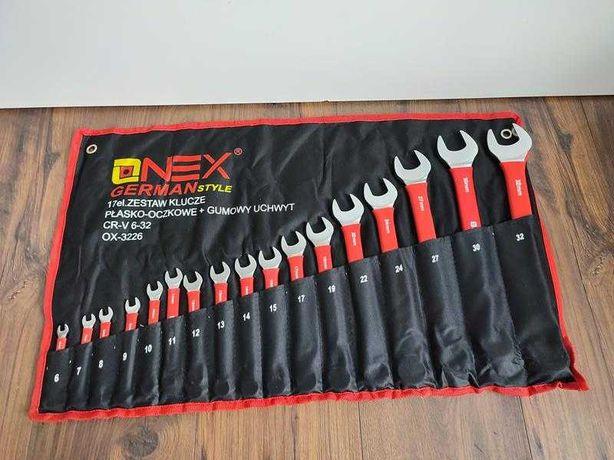 Zestaw Kluczy Onex CrV 6-32 z Gumowym Uchwytem 17 sztuk