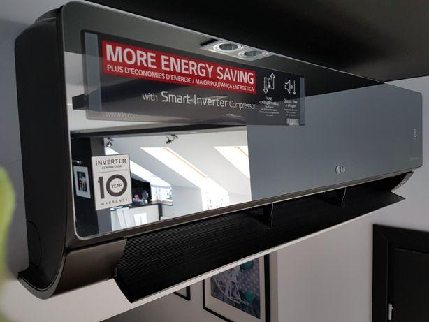 Klimatyzator LG Artcool Mirror Czarny AC18BQ 5.0 kW OD RĘKI!