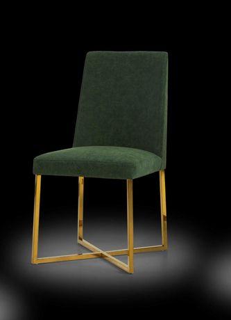 Cadeiras Estofadas Pés Dourados